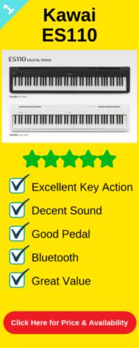 Best portable digital piano the Kawai ES110