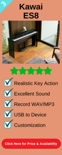 Third best portable digital piano the Kawai ES8