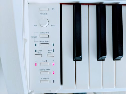 Control panel of the Casio PX-870