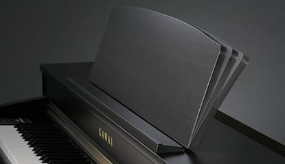 You can adjust the angel of the music rest on the Kawai CA48