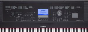 The Yamaha DGX-660 control panel