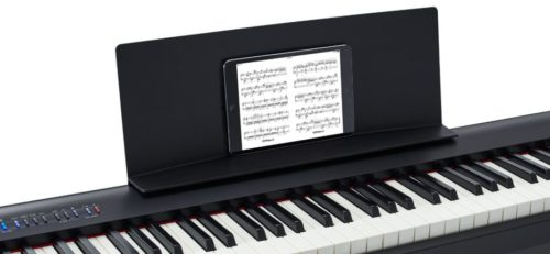 The included music rest of Roland FP-30