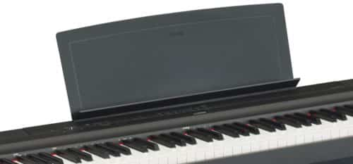 The music rest of the Yamaha P-125