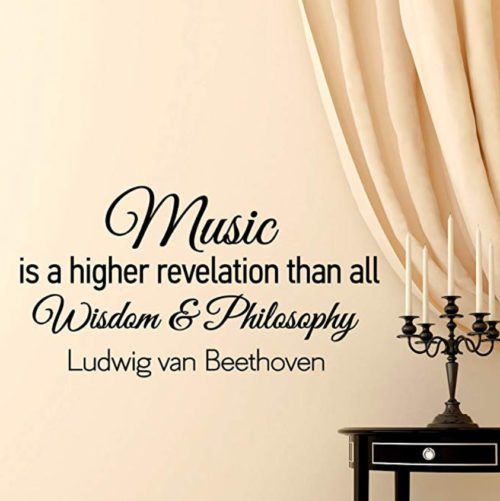 Beethoven quote wall decor