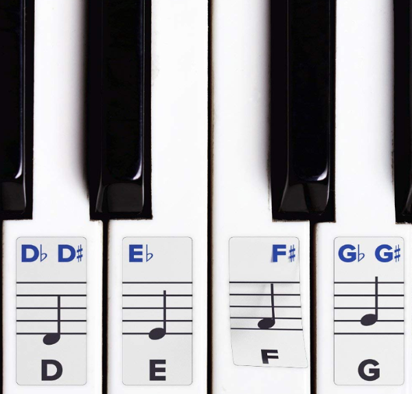 Piano Stickers for Keys