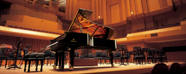 The Yamaha flagship CFX concert grand