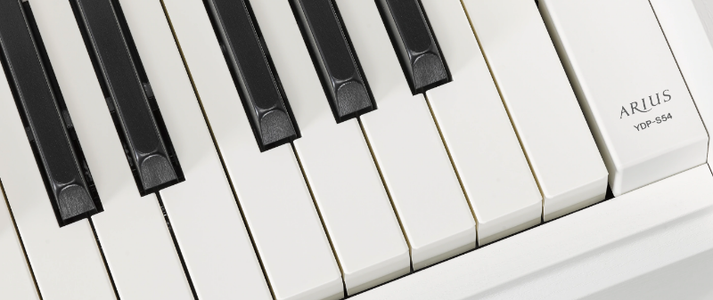 Keyboard of the Yamaha YDP-S54