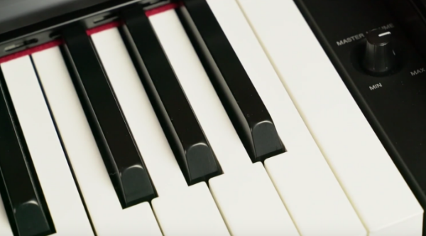 The Keys on the Yamaha YDP-144