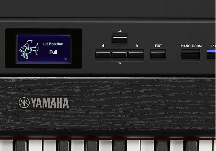 Control panel of the Yamaha P-515