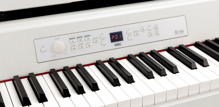 The control panel of the Korg G1 Air
