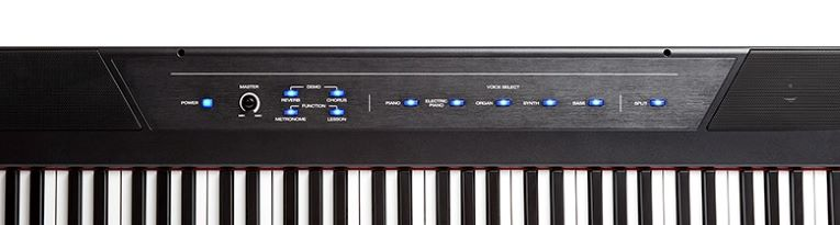 The control panel of the Alesis Recital