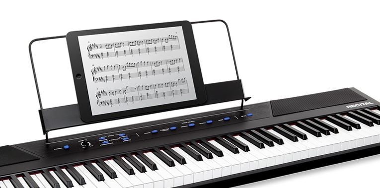 The music rest that comes with the Alesis Recital