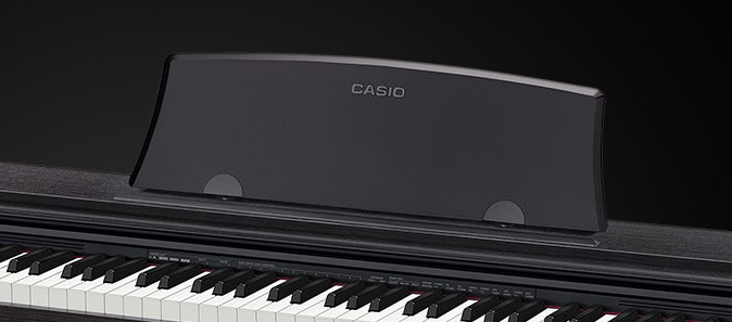 The music rest on the Casio PX-770
