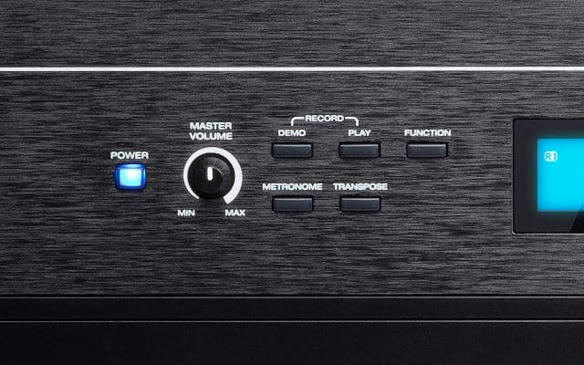 Left side Control Panel of the Alesis Recital Pro