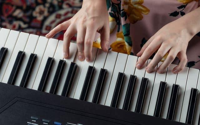 The keys of Alesis Recital Pro