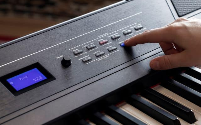 The different sounds selection on the Alesis Recital Pro