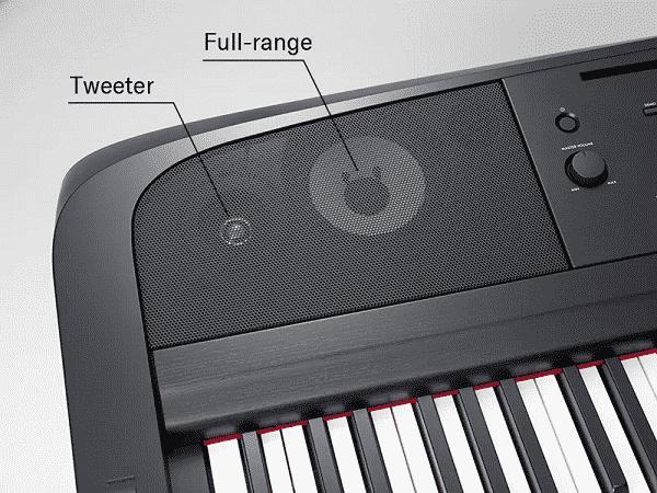 Yamaha DGX 670 Review - speaker