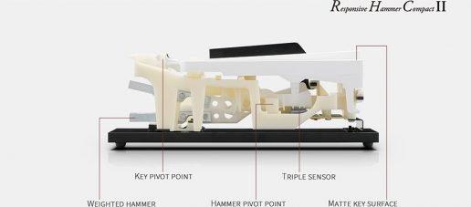Responsive Hammer Compact II (RHCII) keyboard action